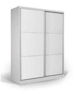 Matis Δίφυλλη Συρόμενη Ντουλάπα 200 cm Άσπρο