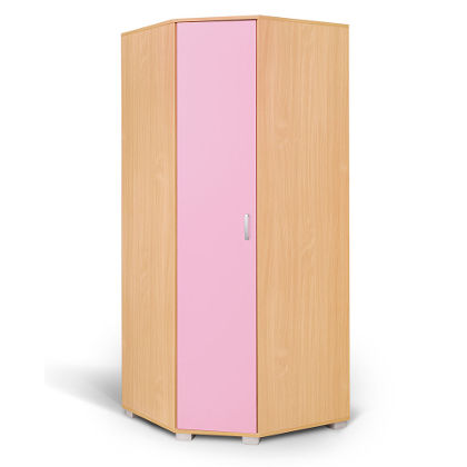 Matis Bambi Γωνιακή Ντουλάπα Ροζ