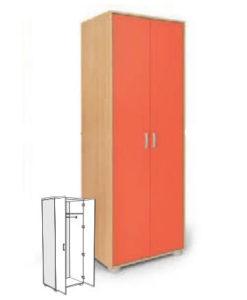 Matis Bambi Παιδική Δίφυλλη Ντουλάπα Πορτοκαλί