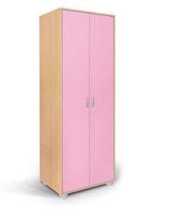 Matis Bambi Παιδική Δίφυλλη Ντουλάπα Ροζ