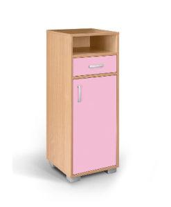 Matis Bambi Παιδική Κομότα Με Συρτάρι & Ντουλάπι Ροζ