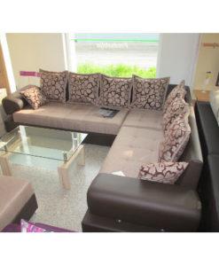Matis Lolita Γωνιακός Καναπές (Κρεβάτι) Καφέ-Μπεζ
