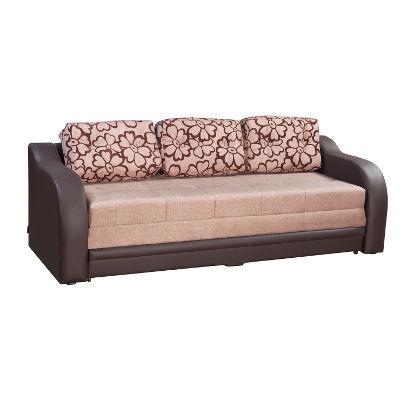 Matis Relax Καναπές (Κρεβάτι) Καφέ-Μπεζ