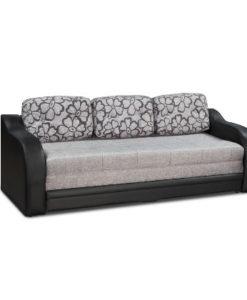 Matis Relax Καναπές (Κρεβάτι) Μαύρο-Γκρι