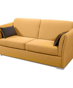 Matis Uniqa MM3010904 Τριθέσιος Καναπές Μηχ Κίτρινος