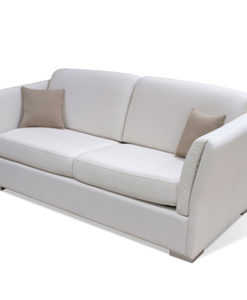 Matis Uniqa MM3010906 Τριθέσιος Καναπές Μηχ Λευκός