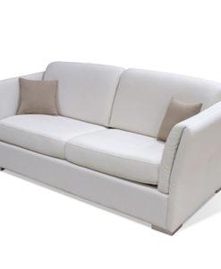Matis Uniqa MM3020806 Τριθέσιος Καναπές Λευκός