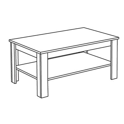 Matis Dnevna Soba Wood 550109 Τραπέζι