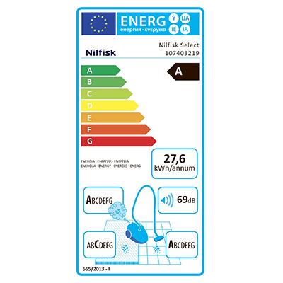 Nilfisk 107403219 Select Comfort Blue EU Ηλεκτρική Σκούπα 750W