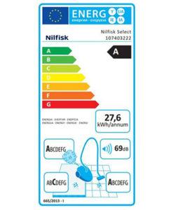 Nilfisk 107403222 Select Comfort Parquet Silver EU Ηλεκτρική Σκούπα 750W