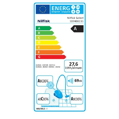 Nilfisk 107403231 Select Superior Black EU Ηλεκτρική Σκούπα 800W