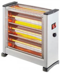 Eurolamp 147-29155 Θερμάστρα Χαλαζία Λευκή 3Face Με Θερμοστάτη 2800W