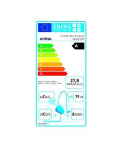 Nilfisk 18451187 One White Parquet EU Ηλεκτρική Σκούπα 800W