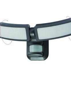 Spotlight 5603 Απλίκα Διπλή Motion Sensor Μαύρο 27W