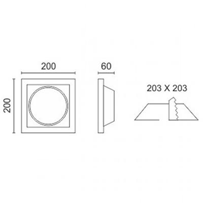 Spotlight 5627 Φωτιστικό Σποτ Χωνευτό Τετράγωνο Γύψινο Σταθερό 230V