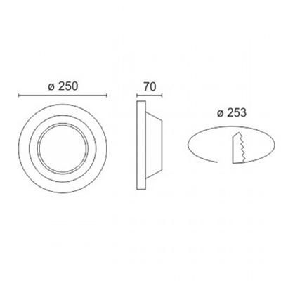 Spotlight 5628 Φωτιστικό Σποτ Χωνευτό Στρογγυλό Γύψινο Σταθερό 230V