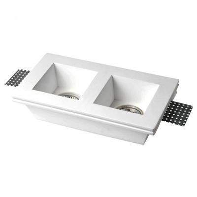 Spotlight 5630 Φωτιστικό Σποτ Δίφωτο Χωνευτό Τετράγωνο Γύψινο Σταθερό Βαθύ 230V