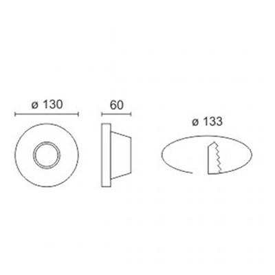 Spotlight 5633 Φωτιστικό Σποτ Χωνευτό Στρογγυλό Γύψινο Σταθερό Στενό 230V