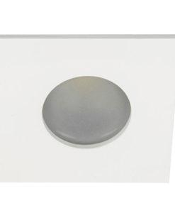 VK Hellas Electric 64173-019121 VK/03035/W Φωτιστικό Σποτ Οροφής Τετράγωνο Αδιάβροχο Λευκό