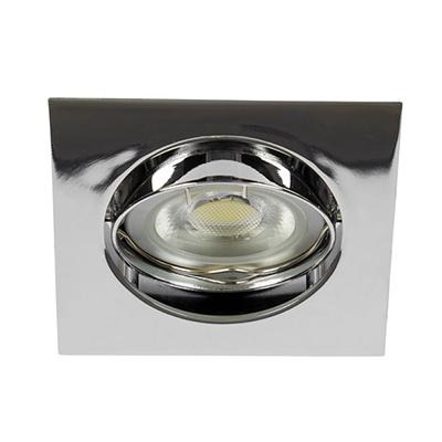 VK Hellas Electric 64173-031121 VK/03011G/C Φωτιστικό Σποτ Οροφής Τετράγωνο Χρώμιο