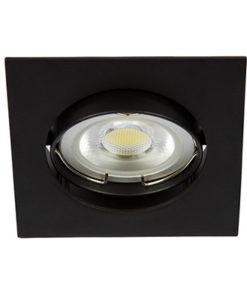 VK Hellas Electric 64173-048121 VK/03011G/B Φωτιστικό Σποτ Οροφής Τετράγωνο Μαύρο