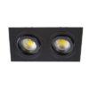 VK Hellas Electric 64173-062121 VK/03014G/2/B Φωτιστικό Σποτ Οροφής Διπλό Μαύρο