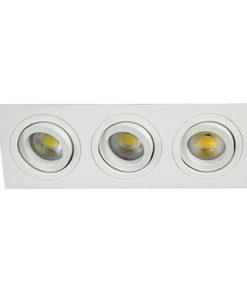 VK Hellas Electric 64173-064121 VΚ/03014G/3/W Φωτιστικό Σποτ Οροφής Τριπλό Λευκό