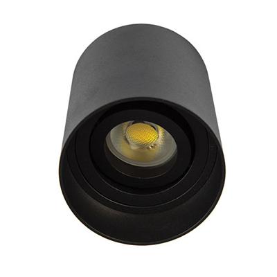 VK Hellas Electric 75169-212108 VΚ/03054/B Φωτιστικό Οροφής Κύλινδρος Μαύρο