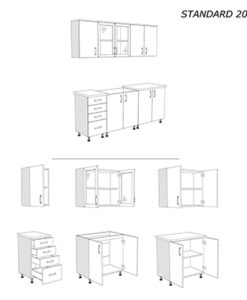 Matis Standard Soft Blok 200 Σύνθεση Κουζίνας 200x85/68x60/30Cm