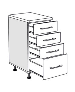 Matis IN D40F Συρταριέρα Βάσης Κουζίνας 40x60/55x85Cm