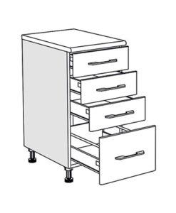 Matis IN D40F PL-BOX Συρταριέρα Βάσης Κουζίνας 40x60/55x85Cm