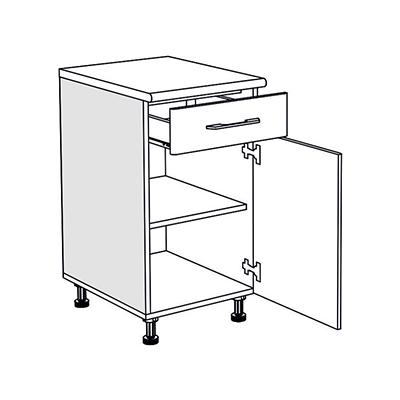 Matis IN D45KF Ντουλάπι Με Συρτάρι Κουζίνας 45x60/55x85Cm