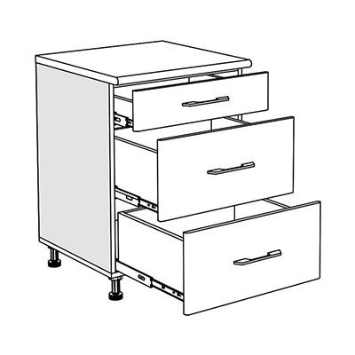 Matis IN D60F Συρταριέρα Βάσης Κουζίνας 60x60/55x85Cm