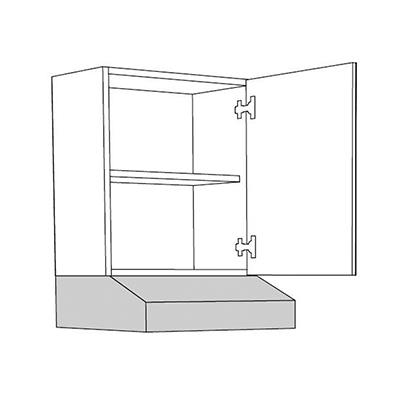 Matis IN VA50 Επιτοίχιο Ντουλάπι Κουζίνας 50x31x57Cm