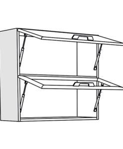Matis IN VH80 Επιτοίχιο Ντουλάπι Βιτρίνα 80x31x72Cm