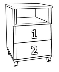 Matis Numero 2F 585417 Παιδικό Κομοδίνο 40x42x60cm