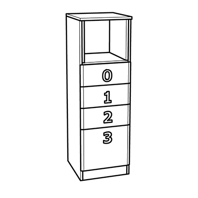 Matis Numero 4F 585517 Παιδικό Κομοδίνο 40x42x126,5cm