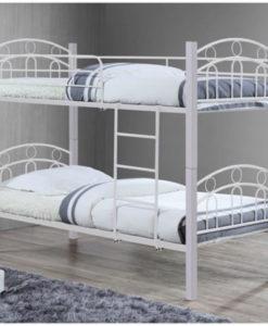 WOODWELL NORTON Κρεβάτι Κουκέτα 97x201x160cm λευκό