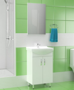 Aidonitsa CERSANIA Σετ Μπάνιου Με Νιπτήρα & Καθρέφτη