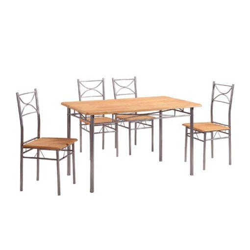 LORETO Σετ Τραπέζι Με 4 Καρέκλες