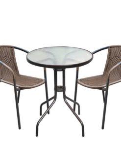 BALENO Σετ Τραπέζι Με 2 Πολυθρόνες