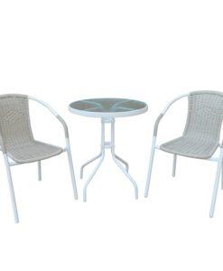 BALENO Σετ Τραπέζι Με 2 Πολυθρόνες Ε240,8