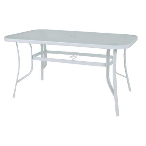 RIO Μεταλλικό Τραπέζι Με Γυαλί 140x80x71cm