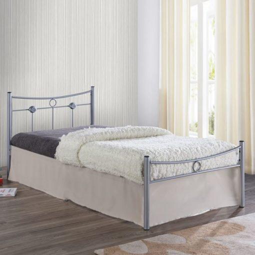 DUGAN Μονό Μεταλλικό Κρεβάτι 96x205x83