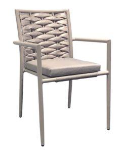 VITAL Πολυθρόνα Με Σκελετό Αλουμινίου & Επένδυση Wicker 57x59x85cm Ε6777,1