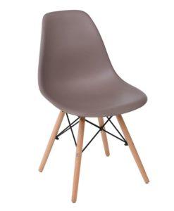 ART Wood Καρέκλα Ξύλο-PP 46x52x82cm